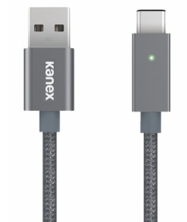 Kanex USB-C to USB-A Cable with LED - Space Gray