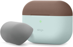 Elago Airpods Pro DUO Silicone Case - Mint/Dark Brown-Gray