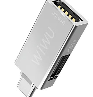 Wiwu Type-C Adapter - Silver