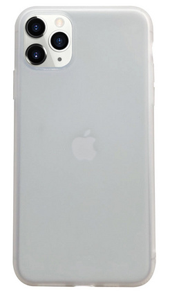 Liquid Silicone Soft case for iPhone 11 PRO Max - White