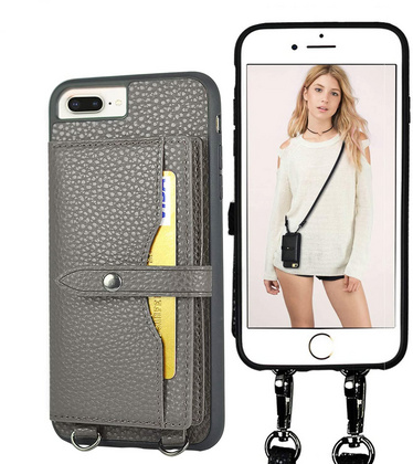Band Leather case for iPhone 7/8 Plus - Gray