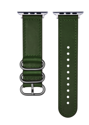 Devia Tricyclic Leather Strap 38 | 40 mm - Green