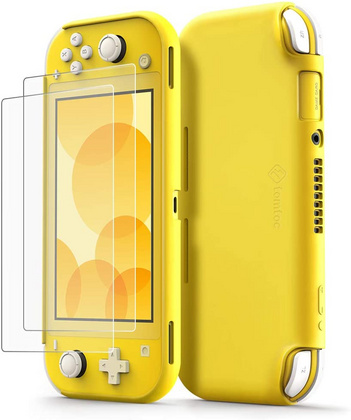 TomToc Nintendo Switch Lite Silicone Case + Glass - Yellow