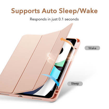 Sdesign Silicone Case with Apple Pencil holder for iPad Air 4 - Rose Gold