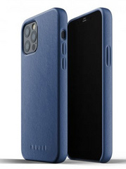 MUJJO Full Leather Case for iPhone 12/PRO - Blue