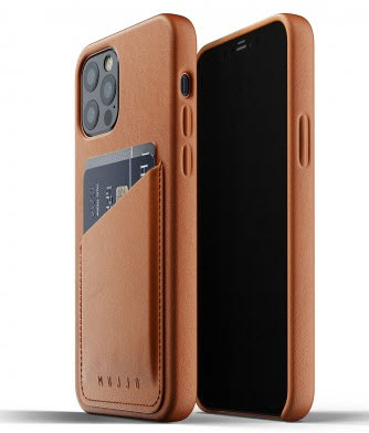 MUJJO Pocket Leather Case for iPhone 12/PRO - Tan