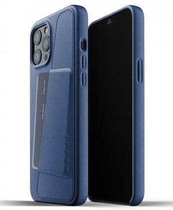 MUJJO Pocket Leather Case for iPhone 12 PRO Max - Blue