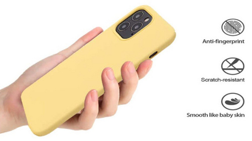 Original Silicone Case for iPhone 12 Mini - Yellow