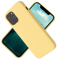 Original Silicone Case for iPhone 12/PRO - Yellow