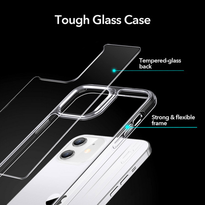 ESR Echo Glass Case for iPhone 12/PRO - Clear