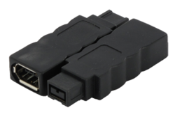 LMP FireWire 800 to FireWire 400 adapter,  9–6 pin