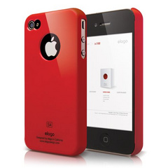 Elago S4 Slim Fit Case for iPhone 4/4s - Extreme Hot Red