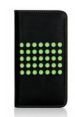 BMT Infinity Dots Flip Case for iPhone 5c - Black/Green