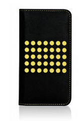 BMT Infinity Dots Flip Case for iPhone 5c - Black/Yellow