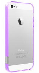 Pinlo Bladedge Aroma Bumper for iPhone 5/5s/SE - Transparent Purple (Lavender)