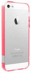 Pinlo Bladedge Aroma Bumper for iPhone 5/5s/SE - Transparent Red (Rose)