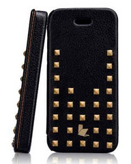 Jison Case Premium Leather Case for iPhone 5/5s/SE - Black