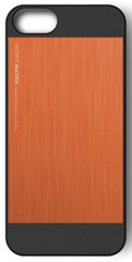 Elago S5 Outfit MATRIX Aluminum Case for iPhone 5/5s/SE - Black / Orange