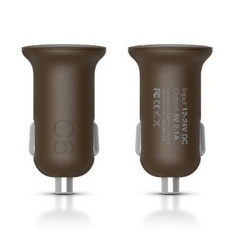 C6 Dual USB Car Charger - Chocolate