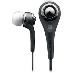 iSkin Cerulean X1 In-Ear Stereo Headphones - Black