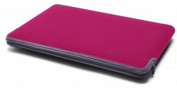 Neoprene Zip Sleeve for MB Air 11″ - Raspberry/Graphite
