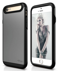 S6 Duro Case - Matt Black / Metallic Dark Gray