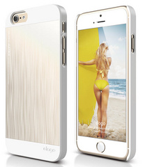 S6 Outfit Matrix Case - White / Champagne Gold