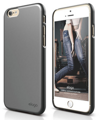 Elago S6 Slim Fit 2 Case for iPhone 6/6s - Metallic Dark Grey