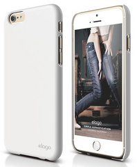 Elago S6 Slim Fit 2 Case for iPhone 6 ONLY - Shiny White