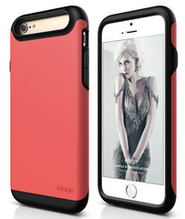 Elago S6 Duro Case for iPhone 6/6s - Matt Black / Italian Rose