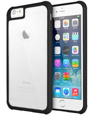 G-Case Shock Resistant Case for iPhone 6/6S Bi-Material -  Black / Transparent