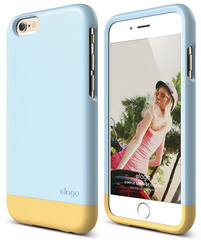 S6 Glide for iPhone 6 only - Cotton Candy Blue / Creamy Yellow