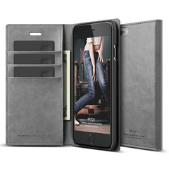 S6 Wallet Card Case - Dark Gray