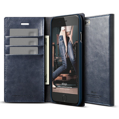 S6 Wallet Card Case - Jean Indigo