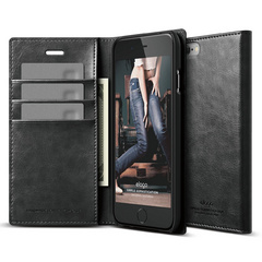 S6 Wallet Card Case - Black