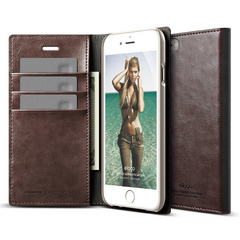 S6 Wallet Card Case - Brown