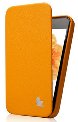 Jison Case Premium Leatherette Case for iPhone 5/5s/SE - Orange