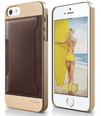 S5 Outfit Genuine Leather - Champagne Gold / Brown