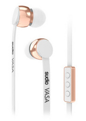 SUDIO Vasa Earphones for iOS - White / Rose Gold