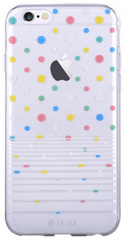 Devia Vango Soft Polka TPU Case for iPhone 6/6S - White