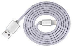 Fashion 2 Lightning Cable 1m - Silver