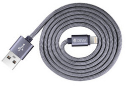 Fashion 2 Lightning Cable 1m - Space Gray