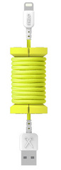 Philo Spool Lightning Cable 1m - Neon Yellow