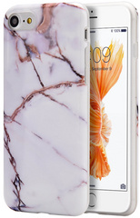Sdesign Marble Case for iPhone 7/8 -  White/Gold