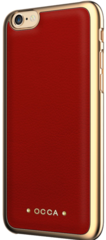 Occa Absolute Leather Case for iPhone 7/8 - Red