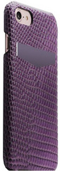 SLG D3 Italian Lizard Leather Back Case for iPhone 8 / 7 Purple