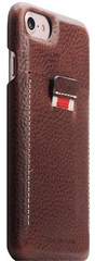 SLG D6 Italian Minerva Box Leather Back Case for iPhone 8 / 7 - Brown