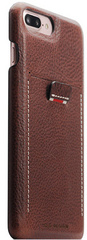 SLG D6 Italian Minerva Box Leather Back Case for iPhone 8 Plus / 7 Plus - Brown