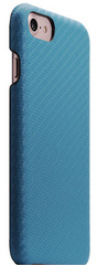 D+ Italian Carbon Leather Back Case - Blue