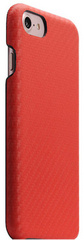 D+ Italian Carbon Leather Back Case - Red